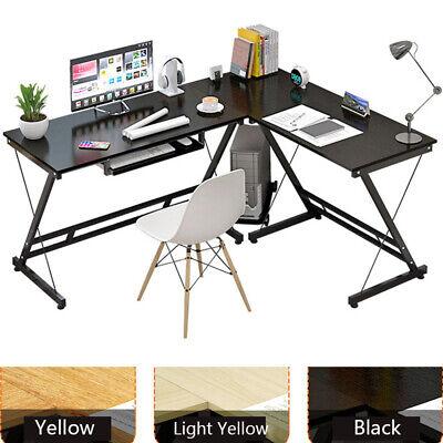 L Shape Computer Gaming Desk Corner Laptop Workstation Study Table Home Office