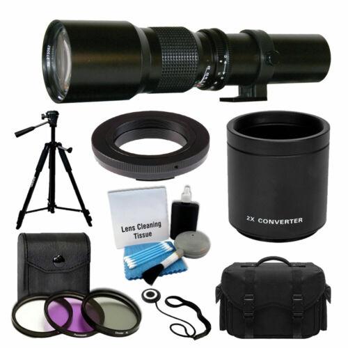 500mm 1000mm Telephoto Lens for Canon Rebel T5 T5i T6 T6i 70D 80D 5D DSLR Camera