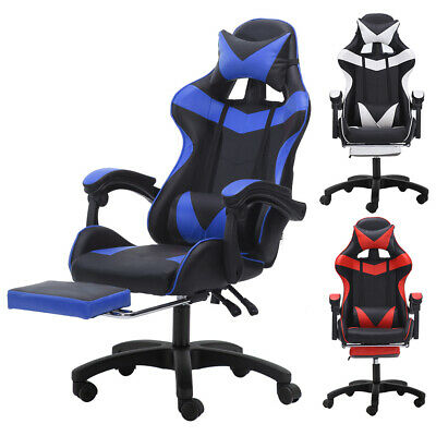 Gaming Chair Racing Recliner High-back Office Computer Desk Seat Swivel Footrest