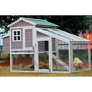 Green, Lilac & White Large Chicken Coop Largs Bay Port Adelaide Area Preview