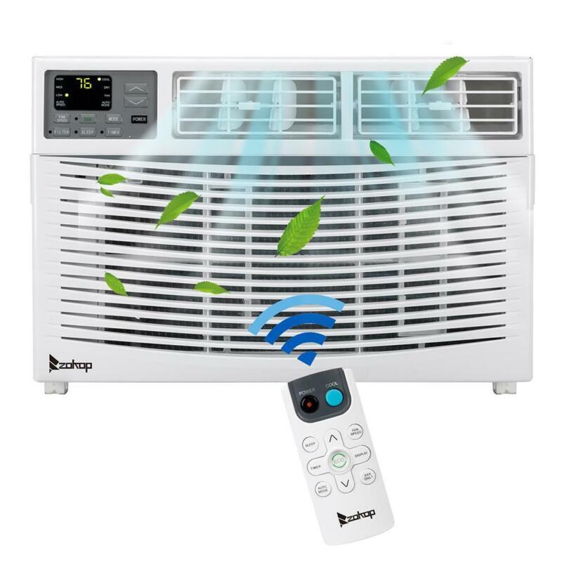 Zokop 10,000 BTU 3 Speed Window Air Conditioner 450 sp.ft.Timer Remote Control
