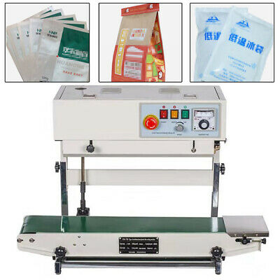 Industrial Vertical Horizontal Continuous Band Sealer Bag Sealing Machine 110v