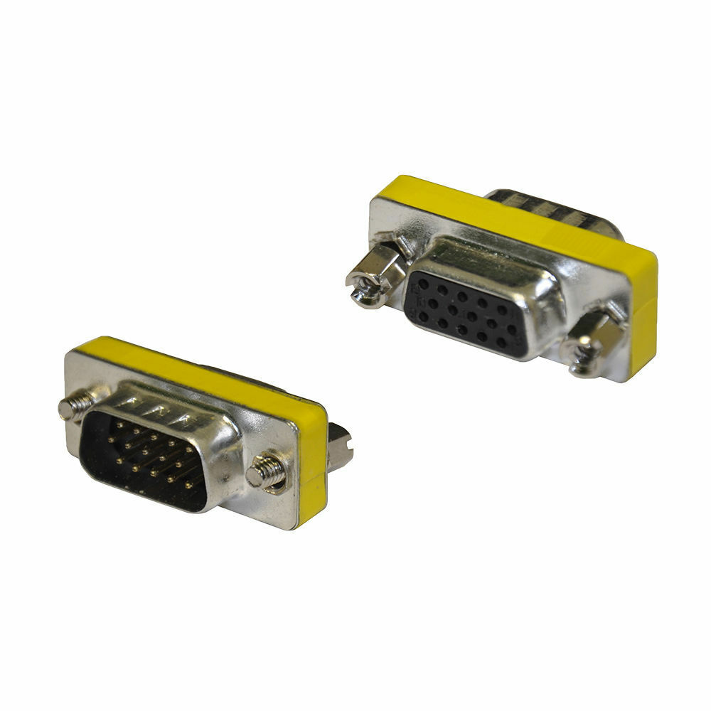 New 15 Pin VGA SVGA Female to Male Gender Changer Coupler Adapter wholesale lots Computer Cables & Connectors
