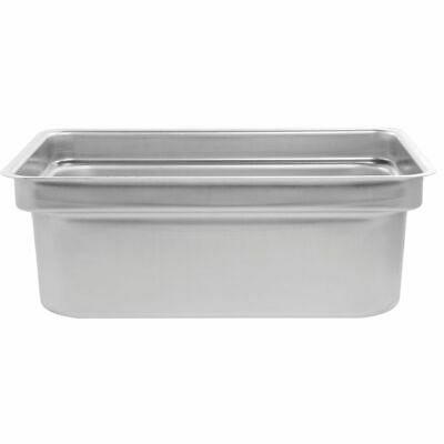 Vollrath Full Size Stainless Steel Offset Shoulder Steam Table Pan - 8d