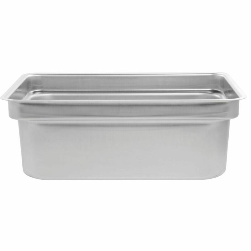 "Vollrath Full Size Stainless Steel Offset Shoulder Steam Table Pan - 8""D"