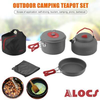 ESBIT CW2500NS Light Cookware Set Outdoor Camping Hiking Cooking Non Stick Pot