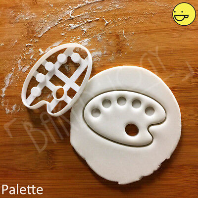 Paint Palette Cookies (Artist Palette cookie cutter | young artists painting art fun birthday)