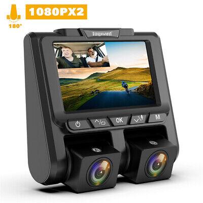 """TOGUARD DashCam FHD 1080P+1080P Dual Lens Autokamera 3"""" 340° DVR Recorder Camera"""