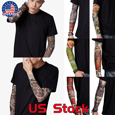 Summer Bicycle Sleeve Cooling Arm Tattoo UV Sun Protection Outdoor Sunscreen US](Bike Tattoos)