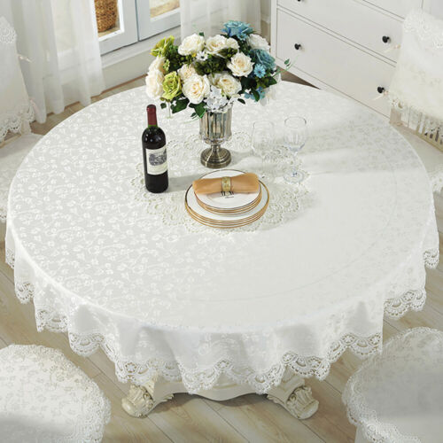 Chic White Lace Tablecloth Table Cover Decoration For Weddin