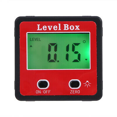Digital Protractor Magnetic Angle Finder Bevel Level Inclinometer Measure A7x9