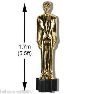 5.5ft Hollywood VIP Award Night Party Gold Man Statue Trophy Cutout Decoration