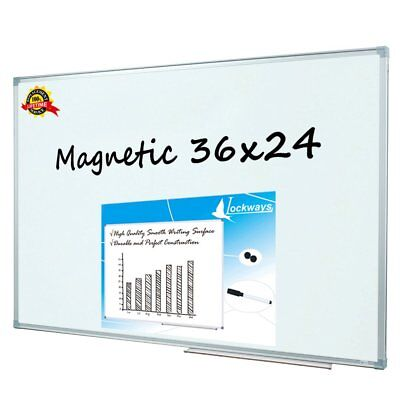 Lockways Magnetic Dry Erase Board - Magnetic Whiteboard 36 X 24 Inch 3 X 2