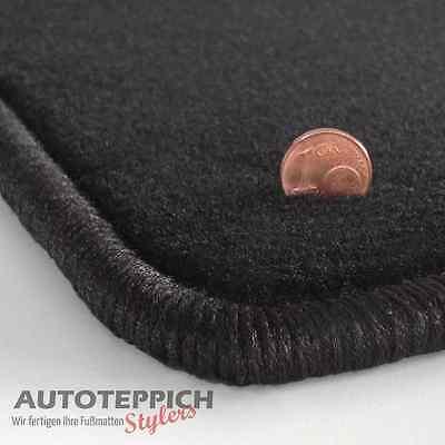 Velours schwarz Fußmatten passend für MERCEDES CLK W208 A208 Cabrio