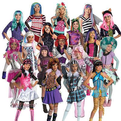 NWT RUBIES GIRLS MONSTER HIGH COSTUME DRACULAURA FRANKIE ABBEY SKELITA HONEY VIP](Monster High Costume For Girls)