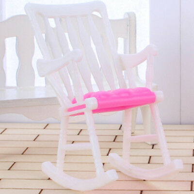 Hot Furniture Rocking Chair Doll House Toy Living Room For Barbie Accessories