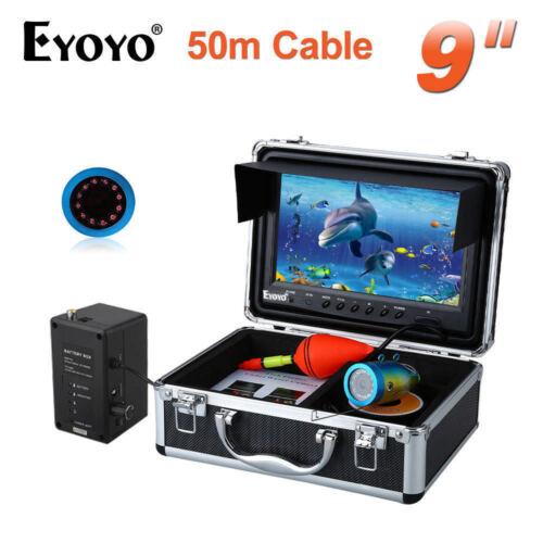 "Eyoyo 9"" LCD Fish Finder Underwater Fishing Camera 50M 1000TVL Infrared IR LED"