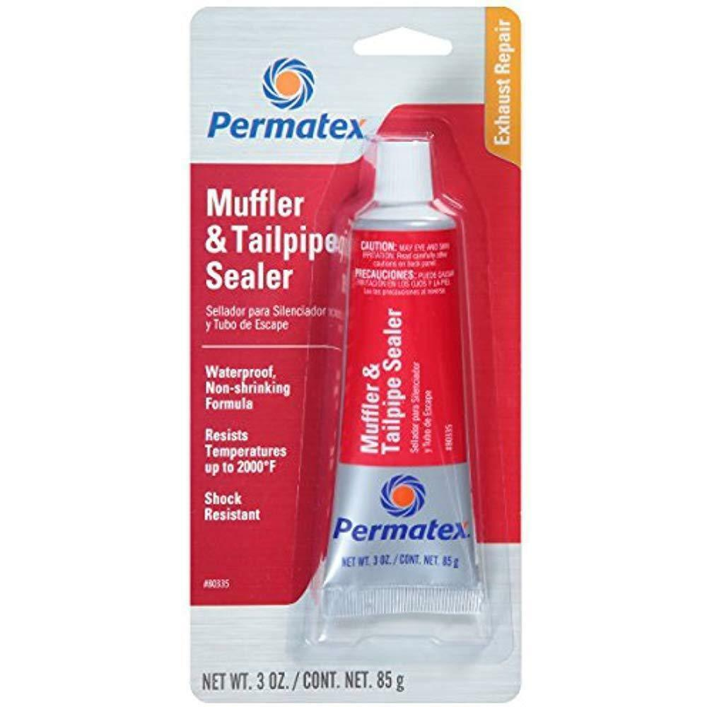 New PERMATEX 80335 MUFFLER & TAILPIPE EXHAUST SEALER for Holes & Leaks 3 oz Tube Automotive Tools & Supplies