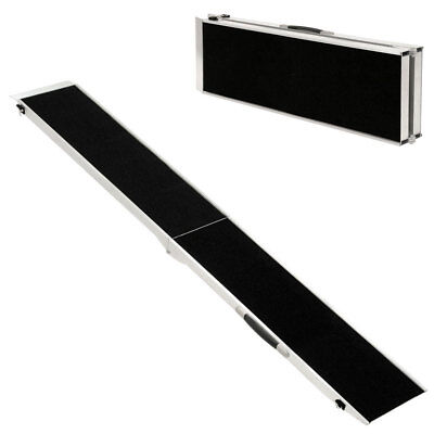 Rampa para Perros Plegable Aluminio Coche Casa 213 cm Negro Petigi