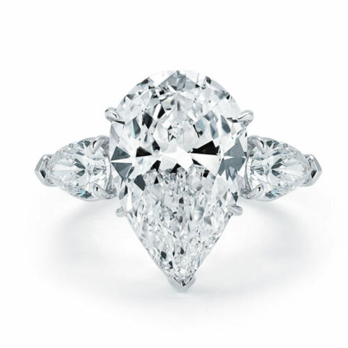 Pear Shape Diamond Engagement Ring 2.60 Carat GIA Certified 18k Gold