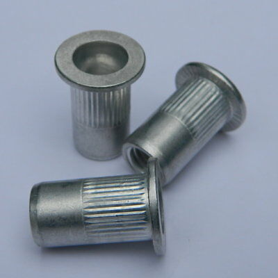 10 Stk Blindnietmuttern M8 Stahl verzinkt Senkkopf ger.1,5-4,5mm Nietmuttern