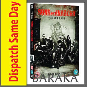 SONS-OF-ANARCHY-COMPLETE-SEASON-SERIES-4-DVD-box-set-NEW-SEALED-4TH-FOUR