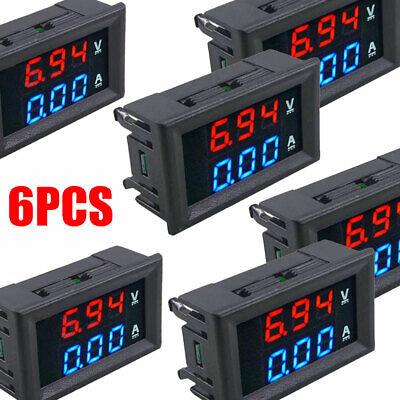 Mini Dc 100v 10a Digital Voltmeter Ammeter Blue Red Led Volt Amp Meter Gauge El
