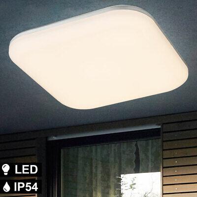 LED Jardín Lámpara Anguloso Terraza Veranda Cubrir Luz Exterior Foco Opal Blanco