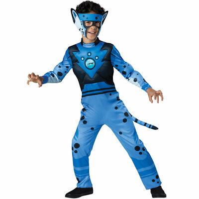Boys Wild Kratts Blue Cheetah Costume