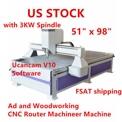 Usa 51 X 981325 Ad And Woodworking Cnc Router Machineer Machine 3kw Spindle