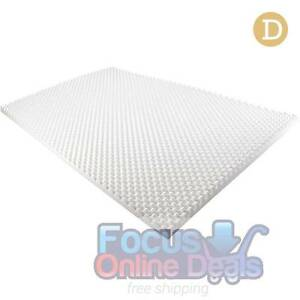 Deluxe Egg Crate Mattress Topper 5 cm Underlay Protector Double Melbourne CBD Melbourne City Preview