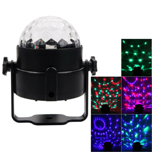 DJ Stage Light Club Party Projector Crystal Ball Effect Rotating LED Lighting