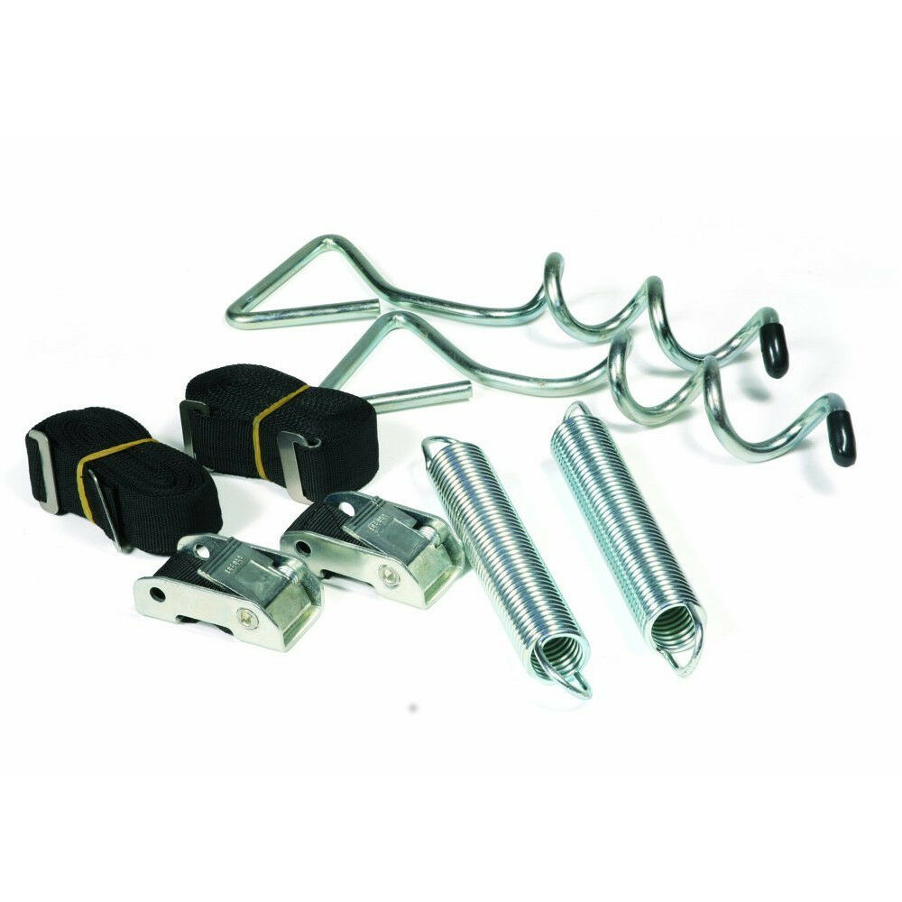 RV Awning Anchor Kit Pull Tension Strap Soil Stake Trailer Outdoor Camper Shade
