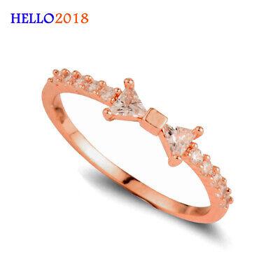 Frauen Mode Exquisite Kristall Bogen Ring Billig Ring Für Partei Schmuck