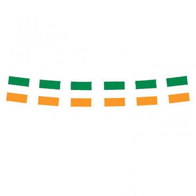 Irish Flag Ireland Plastic Pennant Banner Bunting St Patricks Day 3 metres - Irish Flag Bunting