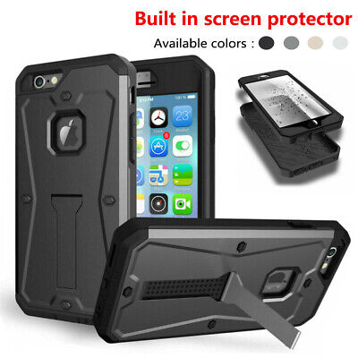 Case For iPhone 5 6 7 8 Plus Heavy Duty Full protection Hybrid Shockproof Cover