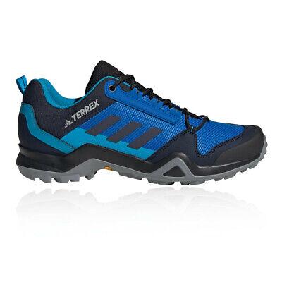 adidas Mens Terrex AX3 Walking Shoes - Black Blue Sports Outdoors Breathable