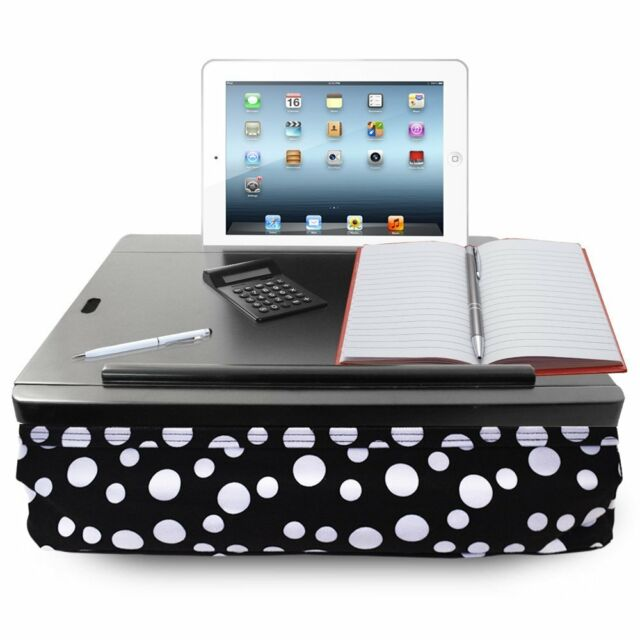 ... Portable Cushion Lap Desk With Storage Polka Dot ...