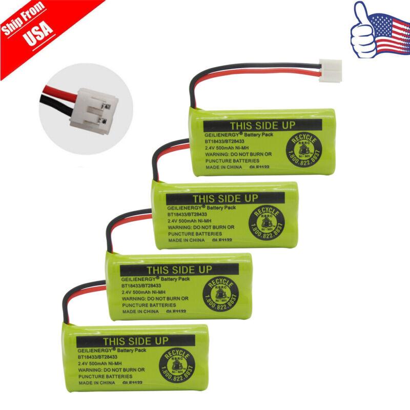 4X 2.4V 500mAh Cordless Home Phone Battery For AT&T BT18433 Empire CPH-515D USA