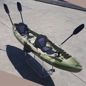 3.7M Family 2.5 Persons Double Kayak Canoe Boat 6 Rod Holders Pad Keysborough Greater Dandenong Preview