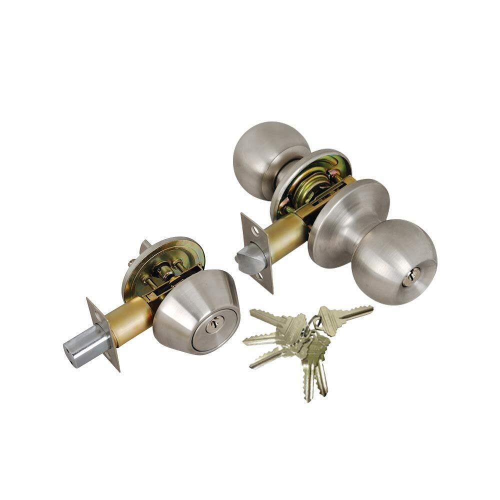 Grip Tight Tools Entry Door Knob and Single Cylinder Deadbol