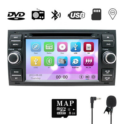 Car Stereo DVD Navigation System with Radio Fit For Ford Focus 2005-2007 Black ()