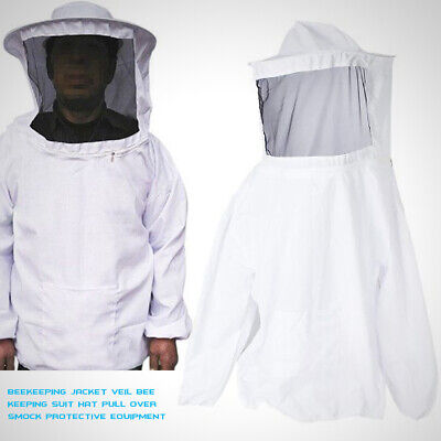 Veil Bee Keeping Suit Beekeeping Jacket Hat Pull Over Smock Protective Equipment