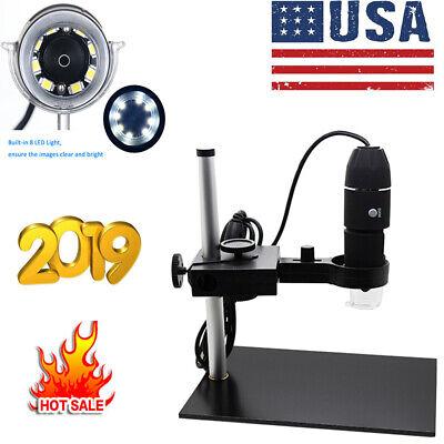 1000x Magnification 8 Led Usb Digital Microscope Camera Magnifierstand W0d6