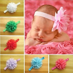 Cute-Baby-Girl-Kids-Child-Big-Flower-Chiffon-Hair-Band-Soft-Elastic-Headbands-YX