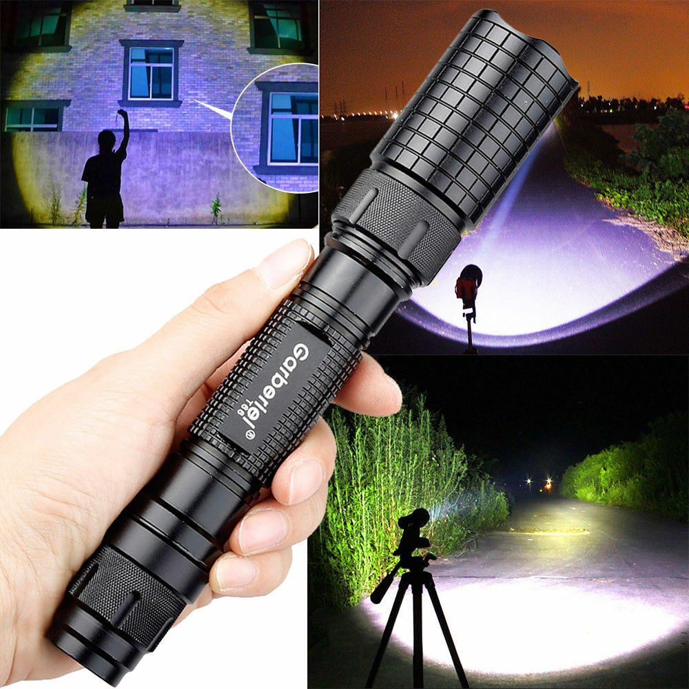 Tactical Police 150000Lumen T6 5Modes LED Flashlight Aluminum Torch Zoomable USA Only Flashlight (not battery/charger)