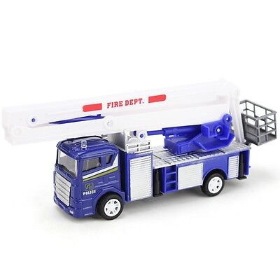 Xiongfengda Kids Alloy 1:60 Scale Simulation Fire Truck Model Toy Christmas Gift (Truck Simulator Us)