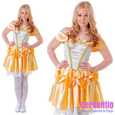 Mädchen die Schöne und das Biest Kostüm Belle Märchen Kostüm Büchertag Neu 11-13 (Märchen Und Märchen-kostüme)