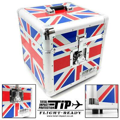 "Total Impact TIP LP100 12"" Vinyl Record Carry Storage Case Box Union Jack Flag"