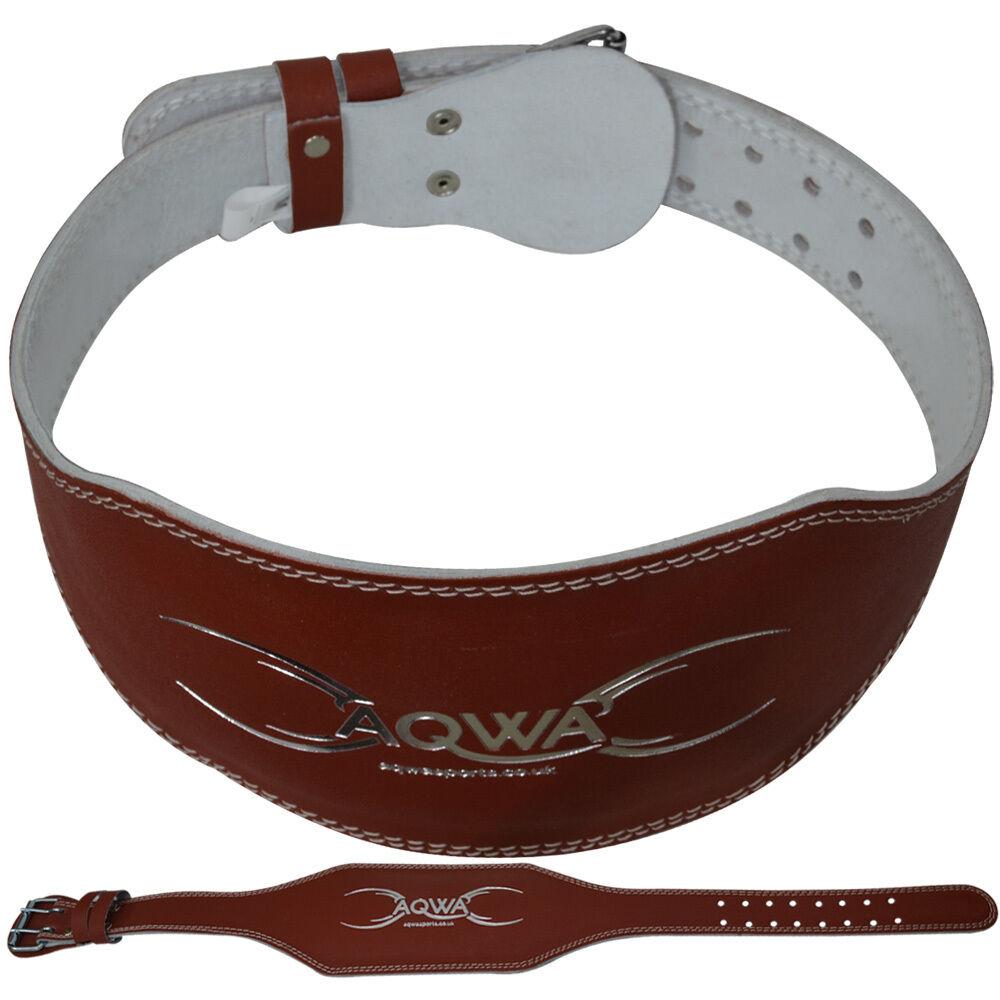 "Landice L7 Treadmill Ebay: AQWA Weight Lifting Leather Belts 6"" Back Support Gym"
